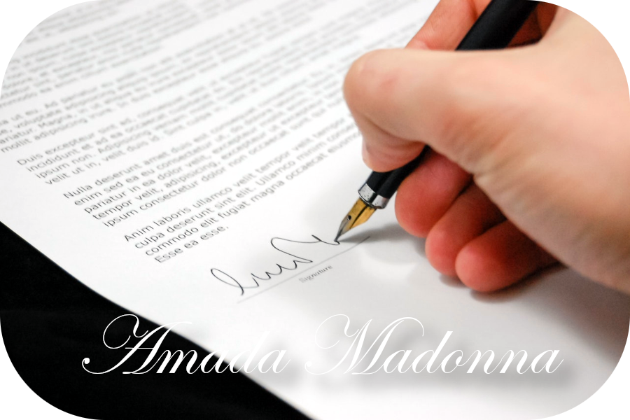 Amada Madonna Terms and Conditions.